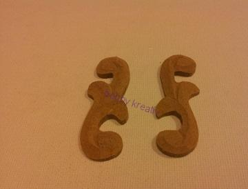 Ornament - MDF set 2 ks