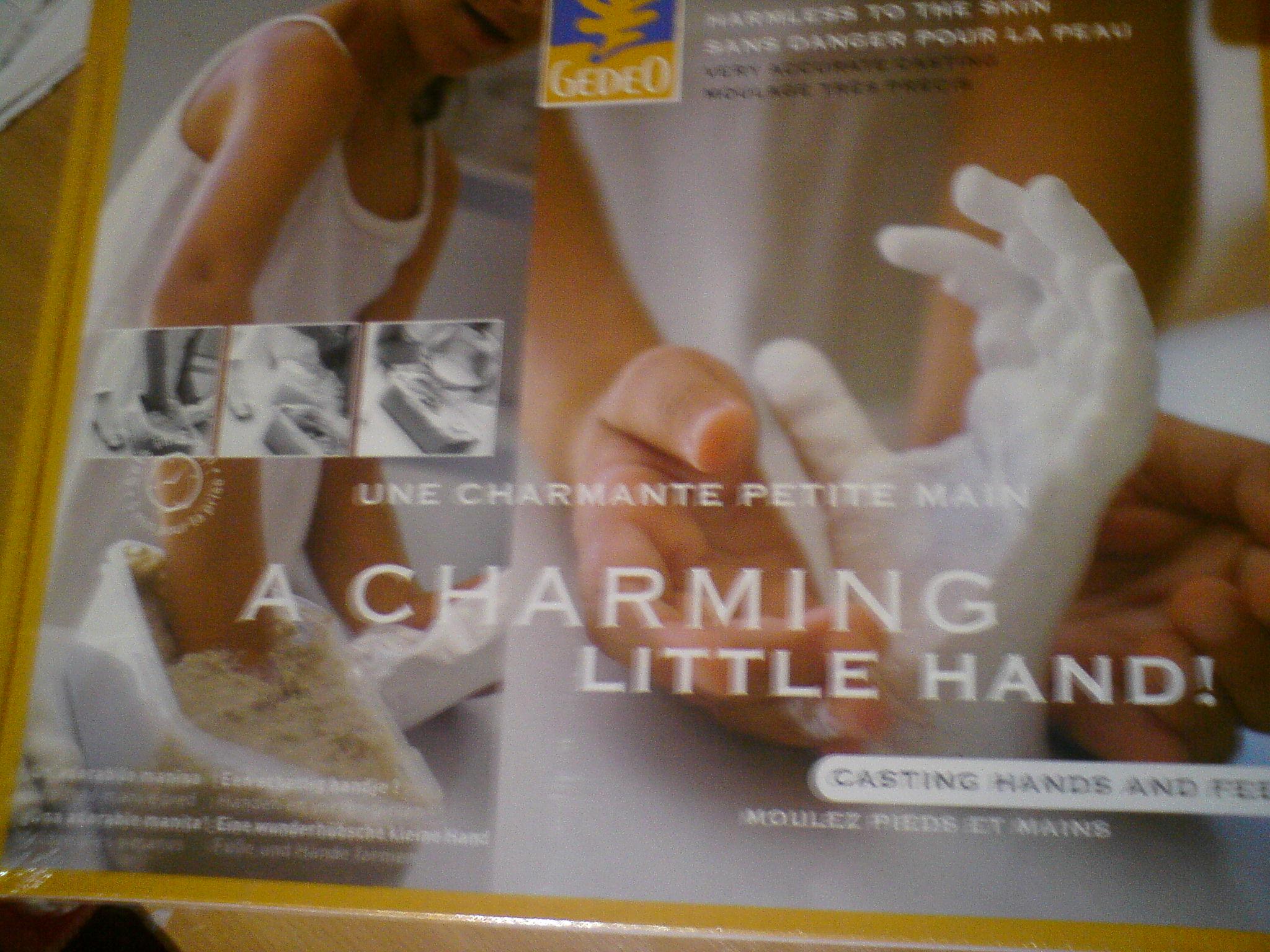 Sada Pebeo - odlievanie detskej ruky (3D ODLIATOK RUčIčKY  DIEťAťA)